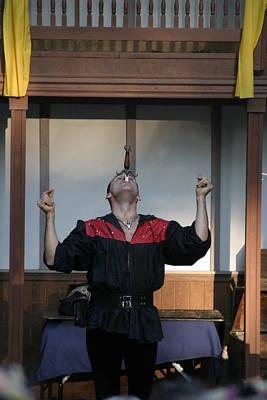 Johnny Photograph - Maryland Renaissance Festival - Johnny Fox Sword Swallower - 1212116 by DC Photographer