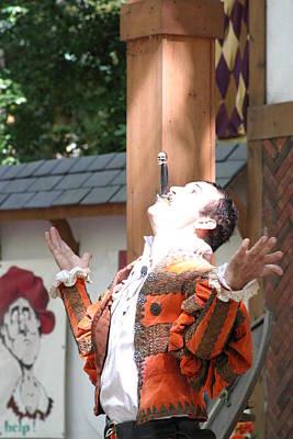 Costume Photograph - Maryland Renaissance Festival - Johnny Fox Sword Swallower - 121217 by DC Photographer