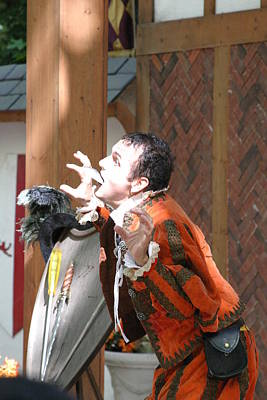 Middle Photograph - Maryland Renaissance Festival - Johnny Fox Sword Swallower - 121222 by DC Photographer