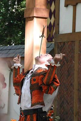 Maryland Renaissance Festival - Johnny Fox Sword Swallower - 121231 Print by DC Photographer