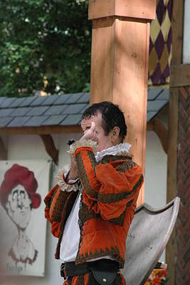 Maryland Renaissance Festival - Johnny Fox Sword Swallower - 121240 Art Print by DC Photographer