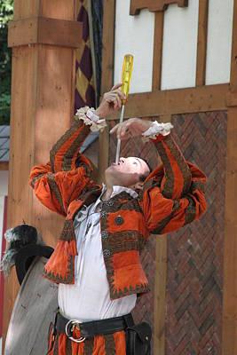 Maryland Renaissance Festival - Johnny Fox Sword Swallower - 121243 Print by DC Photographer