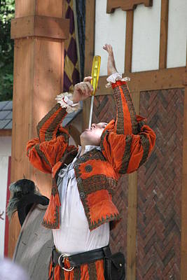 Maryland Renaissance Festival - Johnny Fox Sword Swallower - 121244 Art Print by DC Photographer
