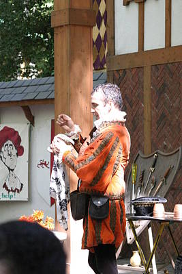 Johnny Photograph - Maryland Renaissance Festival - Johnny Fox Sword Swallower - 12125 by DC Photographer