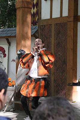 Maryland Renaissance Festival - Johnny Fox Sword Swallower - 121254 Art Print by DC Photographer