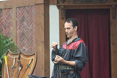 Aged Photograph - Maryland Renaissance Festival - Johnny Fox Sword Swallower - 121259 by DC Photographer