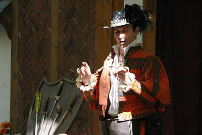 Comedian Photograph - Maryland Renaissance Festival - Johnny Fox Sword Swallower - 12126 by DC Photographer