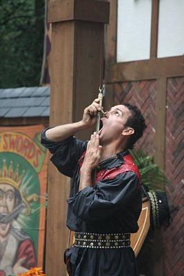 Maryland Renaissance Festival - Johnny Fox Sword Swallower - 121267 Print by DC Photographer