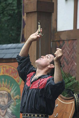Ages Photograph - Maryland Renaissance Festival - Johnny Fox Sword Swallower - 121268 by DC Photographer