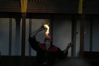 Johnny Photograph - Maryland Renaissance Festival - Johnny Fox Sword Swallower - 121289 by DC Photographer