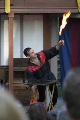 Aged Photograph - Maryland Renaissance Festival - Johnny Fox Sword Swallower - 121295 by DC Photographer