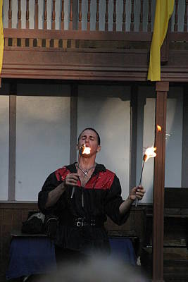 Maryland Renaissance Festival - Johnny Fox Sword Swallower - 121296 Art Print by DC Photographer