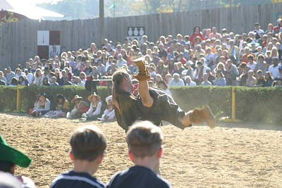 Maryland Renaissance Festival - Jousting And Sword Fighting - 1212110 Art Print by DC Photographer