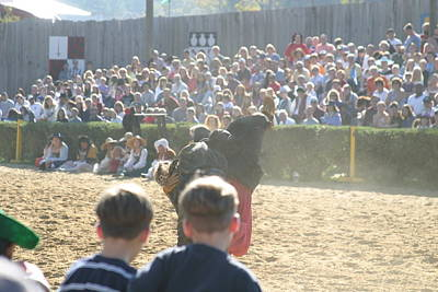 Middle Photograph - Maryland Renaissance Festival - Jousting And Sword Fighting - 1212113 by DC Photographer