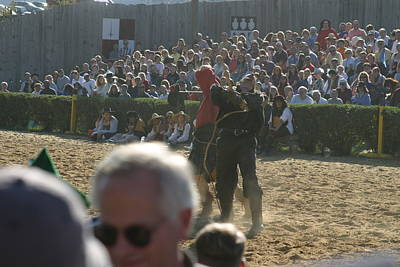 Maryland Renaissance Festival - Jousting And Sword Fighting - 1212115 Art Print by DC Photographer