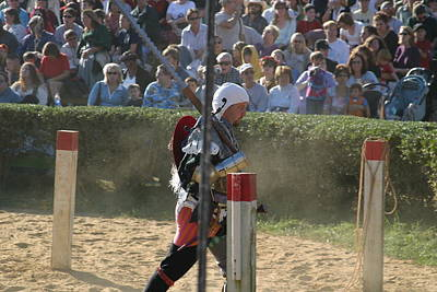 Maryland Renaissance Festival - Jousting And Sword Fighting - 1212119 Art Print by DC Photographer