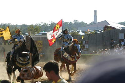 Fight Photograph - Maryland Renaissance Festival - Jousting And Sword Fighting - 1212127 by DC Photographer
