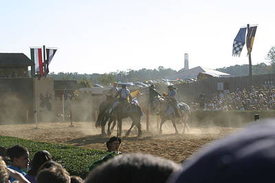 Horses Photograph - Maryland Renaissance Festival - Jousting And Sword Fighting - 1212139 by DC Photographer