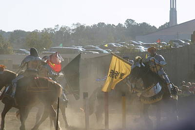 Aged Photograph - Maryland Renaissance Festival - Jousting And Sword Fighting - 1212141 by DC Photographer