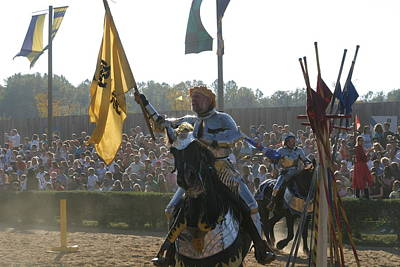Armor Photograph - Maryland Renaissance Festival - Jousting And Sword Fighting - 1212144 by DC Photographer