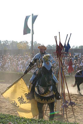 Maryland Renaissance Festival - Jousting And Sword Fighting - 1212145 Art Print by DC Photographer