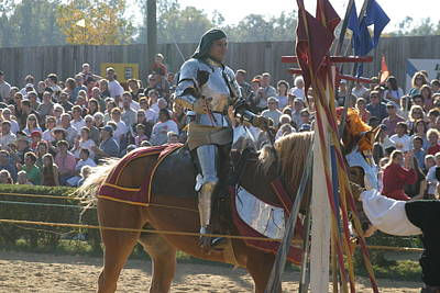 Aged Photograph - Maryland Renaissance Festival - Jousting And Sword Fighting - 1212153 by DC Photographer