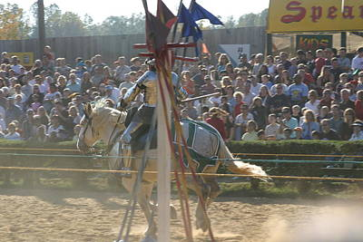 Knight Photograph - Maryland Renaissance Festival - Jousting And Sword Fighting - 1212166 by DC Photographer