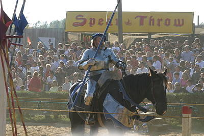 Maryland Renaissance Festival - Jousting And Sword Fighting - 1212169 Art Print by DC Photographer