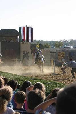 Maryland Renaissance Festival - Jousting And Sword Fighting - 1212174 Art Print by DC Photographer