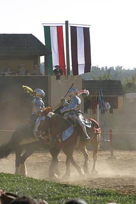Maryland Renaissance Festival - Jousting And Sword Fighting - 1212177 Art Print
