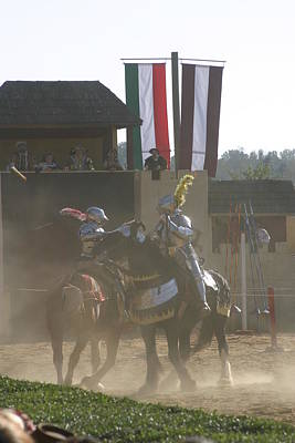 Maryland Renaissance Festival - Jousting And Sword Fighting - 1212179 Art Print by DC Photographer