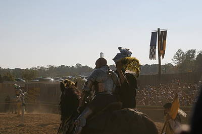 Maryland Renaissance Festival - Jousting And Sword Fighting - 1212185 Art Print by DC Photographer