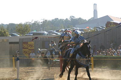 Festival Photograph - Maryland Renaissance Festival - Jousting And Sword Fighting - 1212189 by DC Photographer