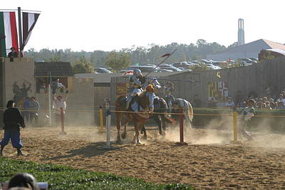 Maryland Renaissance Festival - Jousting And Sword Fighting - 1212191 Art Print by DC Photographer