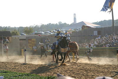 Maryland Renaissance Festival - Jousting And Sword Fighting - 1212193 Art Print