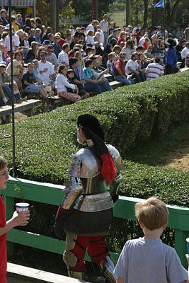 Knight Photograph - Maryland Renaissance Festival - Jousting And Sword Fighting - 1212198 by DC Photographer