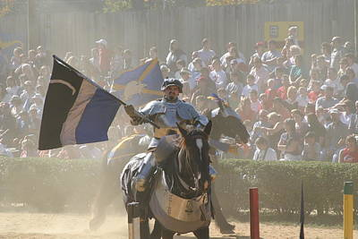 Horses Photograph - Maryland Renaissance Festival - Jousting And Sword Fighting - 1212205 by DC Photographer