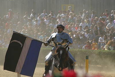 Maryland Renaissance Festival - Jousting And Sword Fighting - 1212206 Print by DC Photographer