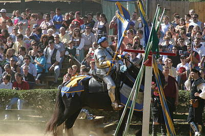 Maryland Renaissance Festival - Jousting And Sword Fighting - 1212207 Art Print by DC Photographer