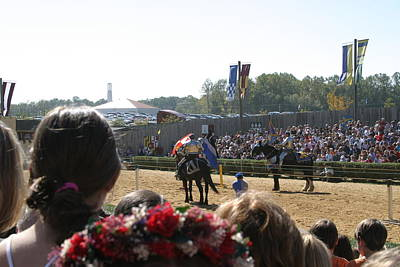 Maryland Renaissance Festival - Jousting And Sword Fighting - 1212209 Art Print by DC Photographer