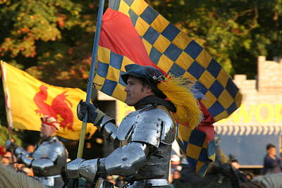 Maryland Renaissance Festival - Jousting And Sword Fighting - 121221 Art Print by DC Photographer