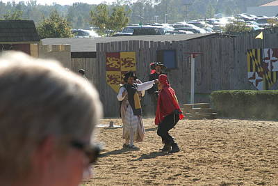 Sword Photograph - Maryland Renaissance Festival - Jousting And Sword Fighting - 1212213 by DC Photographer