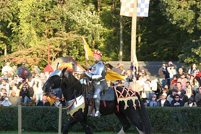 Maryland Renaissance Festival - Jousting And Sword Fighting - 121222 Art Print