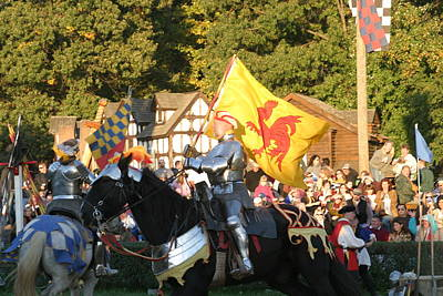Knight Photograph - Maryland Renaissance Festival - Jousting And Sword Fighting - 121223 by DC Photographer