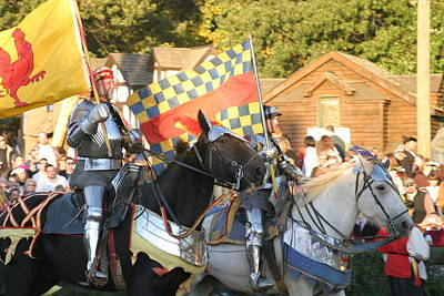 Maryland Renaissance Festival - Jousting And Sword Fighting - 121224 Art Print by DC Photographer