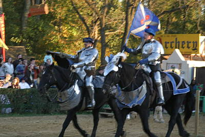 Maryland Renaissance Festival - Jousting And Sword Fighting - 121227 Art Print