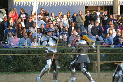 Maryland Renaissance Festival - Jousting And Sword Fighting - 121237 Art Print by DC Photographer