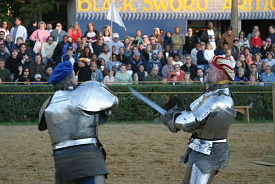 Maryland Renaissance Festival - Jousting And Sword Fighting - 121242 Art Print by DC Photographer
