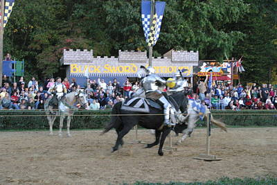 Maryland Renaissance Festival - Jousting And Sword Fighting - 121255 Art Print