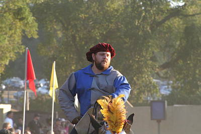 Aged Photograph - Maryland Renaissance Festival - Jousting And Sword Fighting - 121264 by DC Photographer